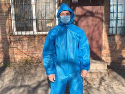 Защитный комбинезон, костюм спанбонд плотность 90 г/м2