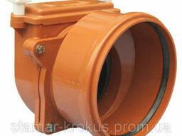 Затвор DN200 с заслонкой из нержавеющей стали и муфтой для труб из синтетического. ..