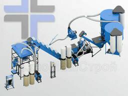 Завод (линия) для производства комбикорма, непрерывный цикл от Измельчителя до упаковки