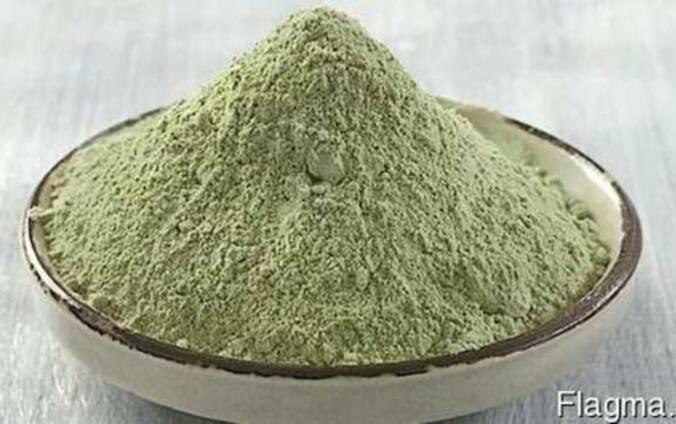 Зеленая глина глауконит, маска для волос и лица