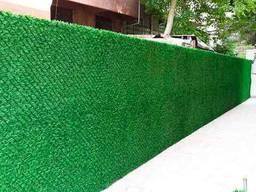 Зеленый забор, декоративное Ограждение ПВХ