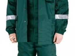 Зелёный зимний костюм со светоотражайкой