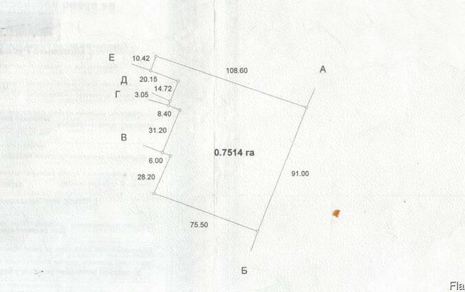 Земельный участок в с.Озера,75сот- 75000у.е под комерческую