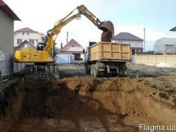 Земляные работы в Симферополе в Крыму, рытье котлованов и др