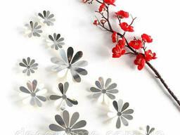 """Зеркальные декоративные 3D цветы """"ромашки"""" на стену. .."""