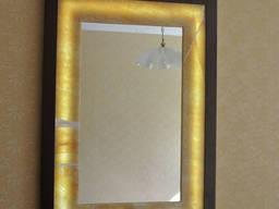 """Зеркало """"Aquastone onyx golden 01"""". (11. 01)"""