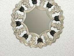 Зеркало настенное чёрный+серебро WGF409ET