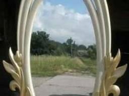 Зеркало резное деревянное