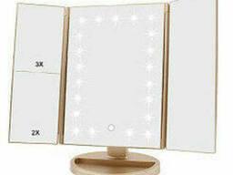 Зеркало с LED подсветкой прямоугольное тройное