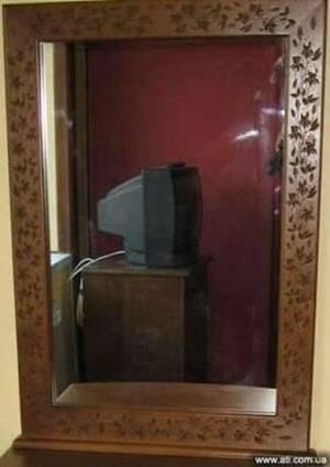 Зеркало с резной рамой