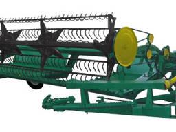 Жатка валковая прицепная( зерновая) с ЮМЗ-6, МТЗ-80 ЖВП-4,9