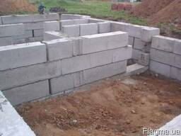 Железобетонные фундаментные блоки 240х60х60,120х60х60, 80х60