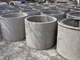 Железобетонные изделия, кольца бетонные, крышки бетонные, дн