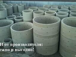 Железобетонные кольца от производителя для колодцев и сливны