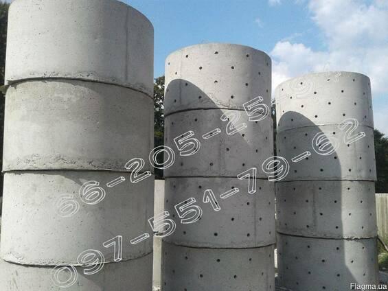 Железобетонные / бетонные кольца жб и крышки всех размеров