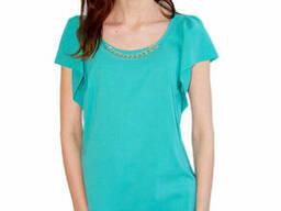 Женская блуза из креп шифона Lipar Бирюза
