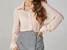 Женская Блуза с ремешком-галстуком Lipar Персик