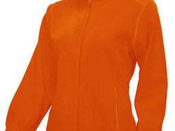 Женская флисовая куртка цвет оранжевый в наличие