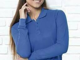 Женская футболка-поло с длинными рукавами