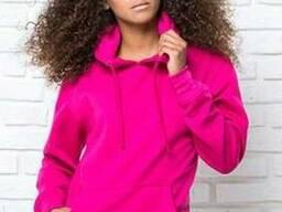 Жіночий реглан з капюшоном колір рожевий