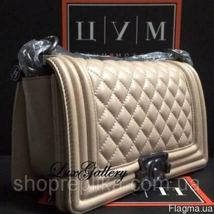 Женская сумка Chanel Бой , Chanel Шанель Бежевая