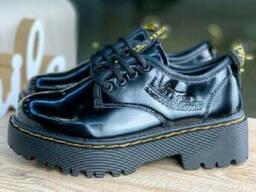 Женские туфли мартинс черные
