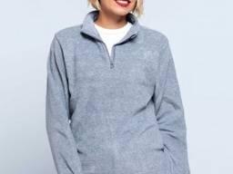 Женский флисовый пуловер с короткой застежкой-молнией