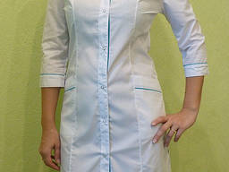 Женский медицинский халат Лада, белый