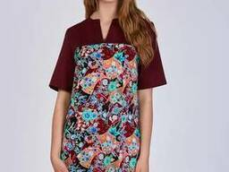 Женский медицинский костюм Фиалка бордо