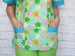 Женский медицинский костюм Игрушка, ткань 100% ХБ