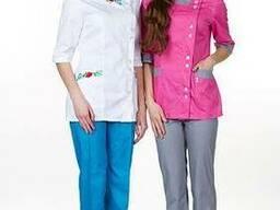 Женский медицинский костюм Венеция вышивка