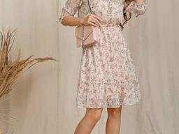 Женское платье с шифона Lipar Пудра