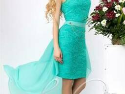 Женское платье со съемным шлейфом Lipar Бирюза