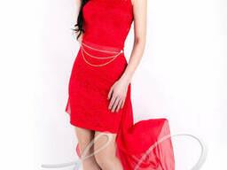 Женское платье со съемным шлейфом Lipar Красное