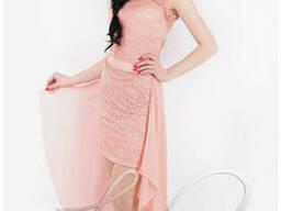 Женское платье со съемным шлейфом Lipar Персик