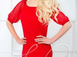 Женское платье в сеточку Lipar Красное