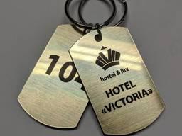 Жетон Бирка номерок на ключи для отелей гостиниц хостелов (металл)