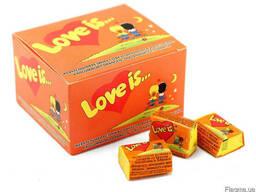 Жевательная резинка love is (лав ис) - Апельсин ананас