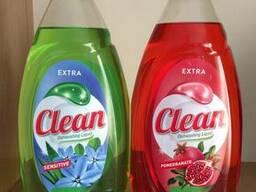 Жидкость для мытья посуды Clean 900 мл/Венгрия(в асортименте