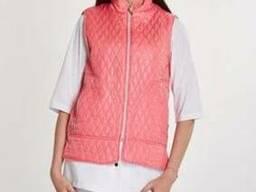 Жіноча медична жилетка колір рожевий стьогана
