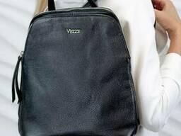 Жіночий шкіряний рюкзак Vezze Mod.260, Чорний