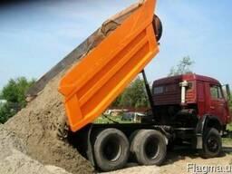 ЗИЛ, КамАЗ:песок речной, щебень гранитный, шлак, отсев.
