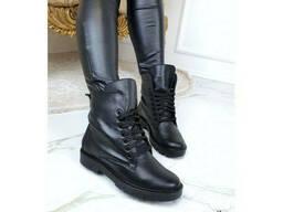 Зимние ботинки кожаные Астра