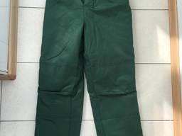 Зимние рабочие брюки зеленые спецодежда утепленная брюки
