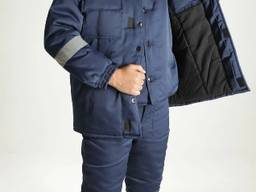 Зимний рабочий костюм Гудок, сигнальная спецодежда