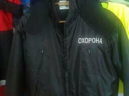 Зимняя куртка для охранника, утепленная верхняя одежда охран