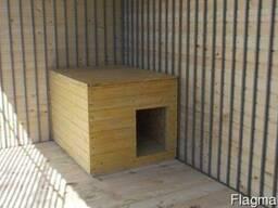 Зимняя вольерная будка
