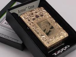 ЗажигалкаZippo 49022 ARMOR Lighter Chinese Love Polished Br