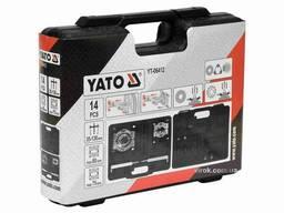 Знімач універсальний і два розділювачі YATO 35-130 мм до Ø60/75 мм 14 шт + кейс