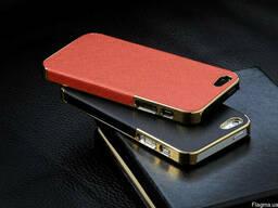 Золотистый чехол OYO Gold кожа PU с велюром для iPhone 5 5S